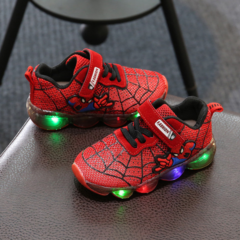Fashion Toddler Girls Antiskid Shoes Cartoon Children boy sports Shoes With Light Kids Led Shoes Luminous Sneakers Islamabad