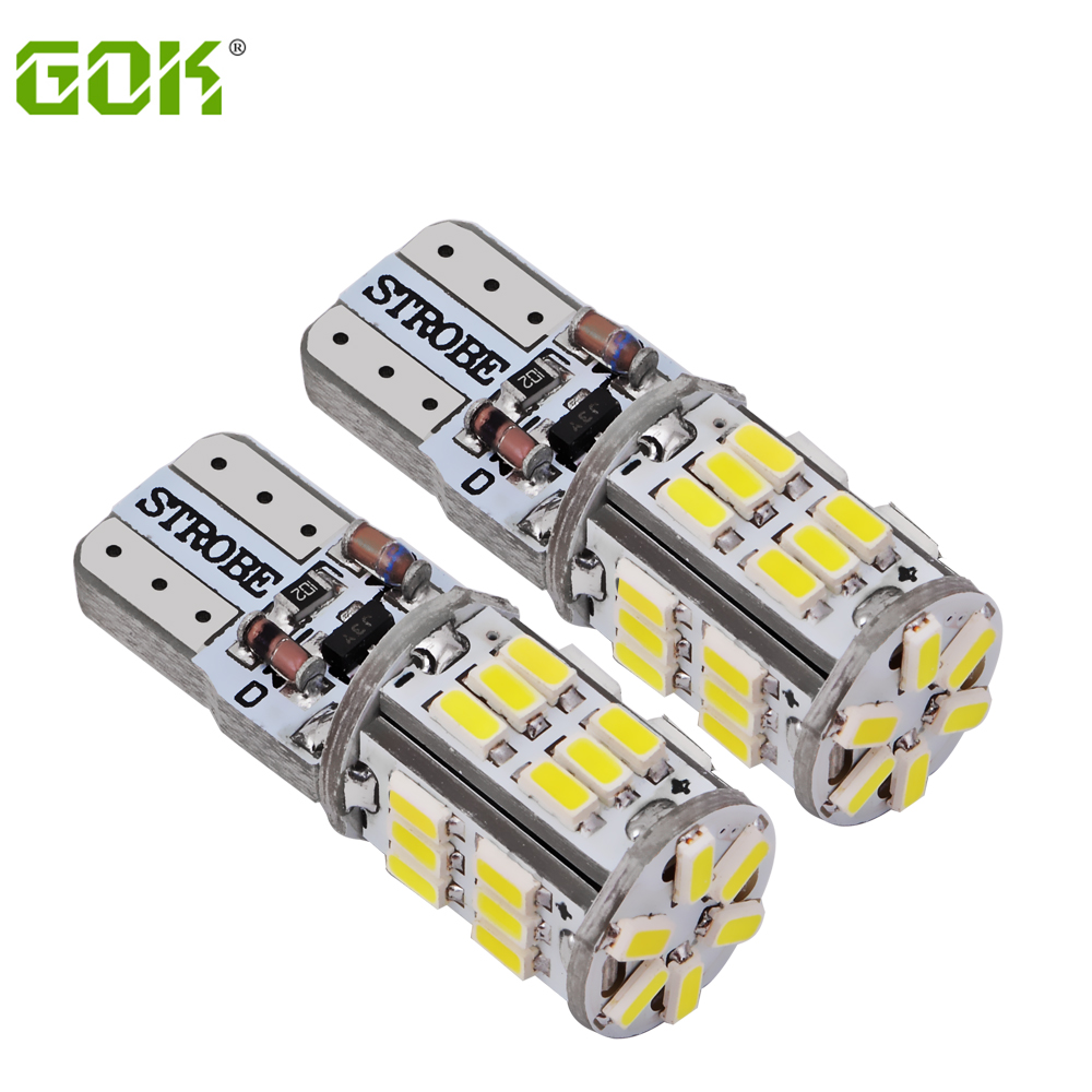 2PCS / LOT T10 led strobe høj kvalitet Strobe flash w5w 30smd t10 30led 3014 smd bil led Let bil-styling pære engros