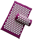 Acupressure Lotus Spike Massage Pads Rug Acupuncture Mat+Pillow Back Neck Stress Relief Yoga Cushion Massager Relaxation