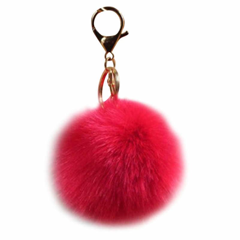 Kelinci Bola Bulu Tas tas Mewah Liontin pesona wanita Aksesoris hot sale pada 2017 B05