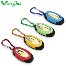COB Led Flashlight Night Light 3 Modes Portable Mini Key Chain Torch Light Lamp Red Yellow Blue Green Mini-Torch Keyring(China)