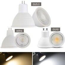 Светодиодный точечный светильник с регулируемой яркостью GU10, 7 Вт, 220 В, MR16 GU5.3, светодиодный светильник COB с чипом, угловой Точечный светильник светодиодный светильник для настольного светильника