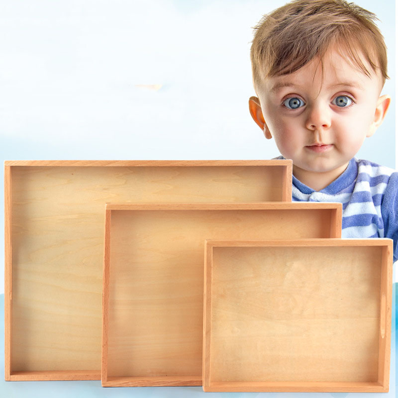 Kids Toys Montessori Materials Wooden Toys Wood Small Tray Toys Teaching Aids Preschool Early Educational Toys For Children Gift