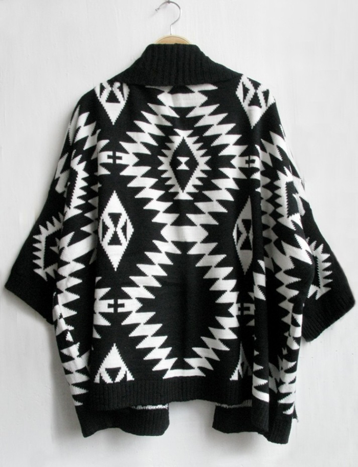 Women Boho Vintage Ethnic Print Crochet Patterned Cardigan Shrug Geometric  Knitted Cardigan Women Winter Tricot Poncho Sweaters-in Cardigans from  Women's ... - Women Boho Vintage Ethnic Print Crochet Patterned Cardigan Shrug