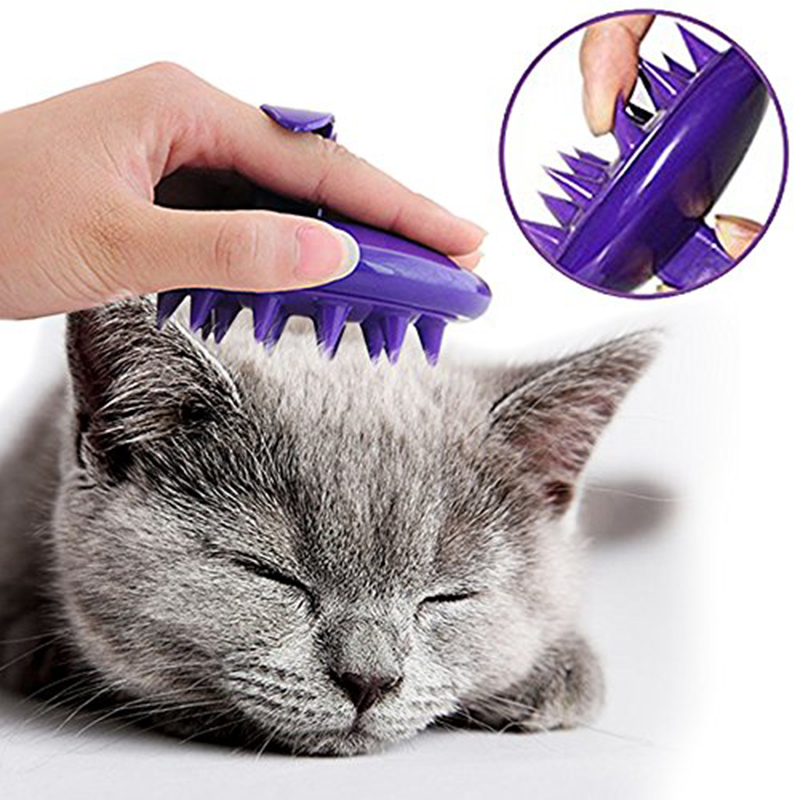 Soft Silicone Pet Cat Dog Grooming Brush Hair Remover Clean Comb Rake Tool Pet Massage Bath Brush Pet Supplies Dog Accessories