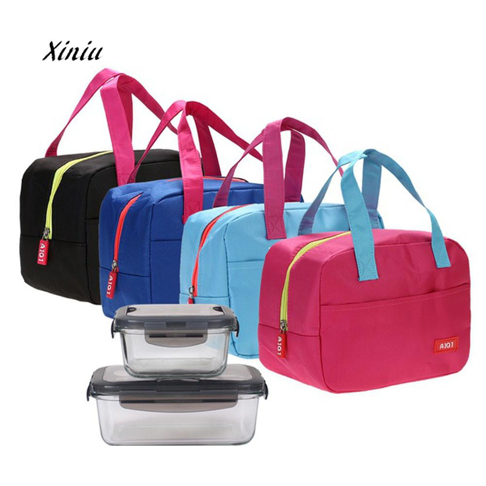 2019 New Fashion Lunch Bag Portable Waterproof Thickness Insulated Picnic Lunch Bag Office Food Storage Handbags