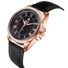Relojes de marca 2017 Nueva Llegada de Moda Casual de Negocios de Los Hombres Correa de Cuero Reloj de Cuarzo de Alta Calidad Reloj de Pulsera de 4 Colores