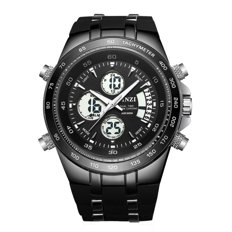 BINZI 2017 Luxury Brand Men Sports Army Military Watches Men s Quartz Analog LED Clock Male