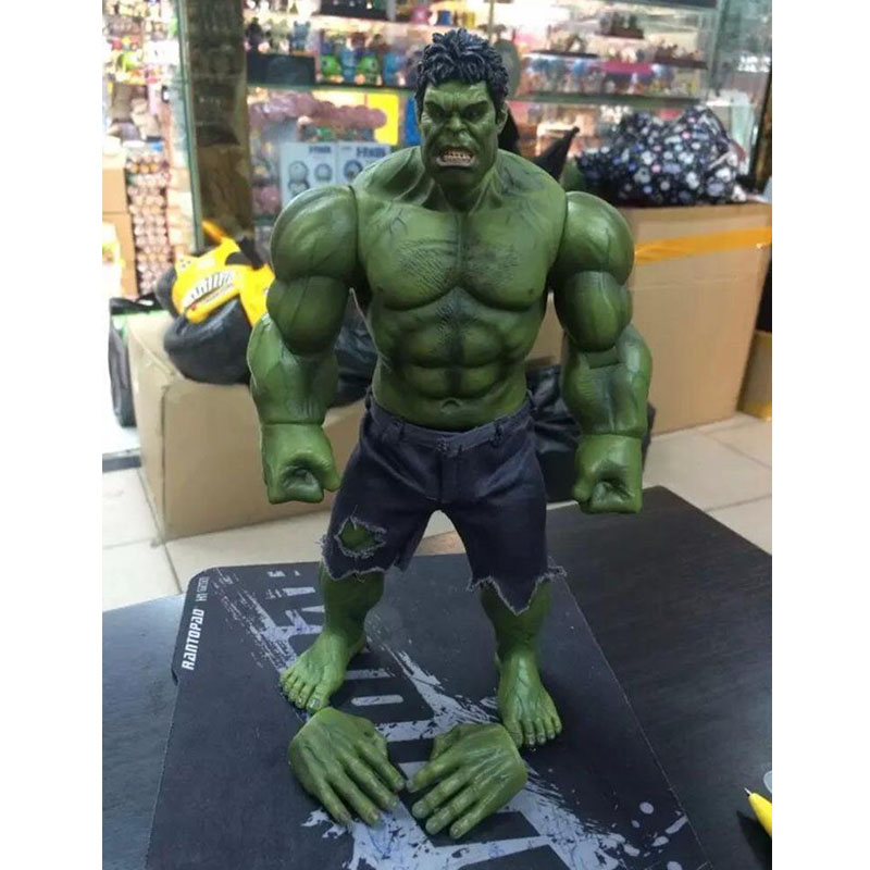 Marvel The Avengers Hulk Super Heroes 1/6 Scale Pants can be taken off PVC Action Figure collectible Model Toys 26cm KT1332 rome hulk marvel super hero avengers figure green hulk 7cm high the amazing action building block sets model bricks