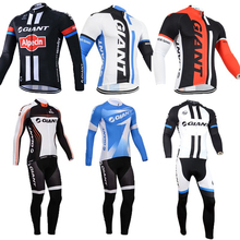 Hot Giant Pro crew Winter Thermal Fleece Cycling Jersey males 2016 mountain Bike Clothing MTB Bicycle Clothes Sportswear skinsuit
