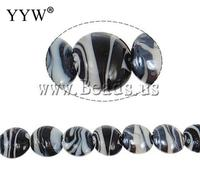 Free Shipping Plated Lampwork Beads DIY Jewelry DIY Flat Round Plated 20x21x11mm Hole Approx 2mm 100PCs