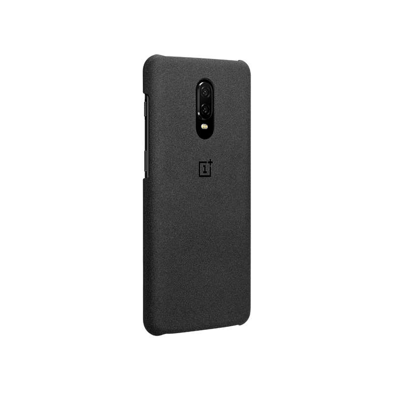 promo code 55863 f9a4d Original OnePlus 6T Karbon Case Material Aramid fiber PC Half-round Back  Cover Shell Sandstone Carbon Official For OnePlus6T