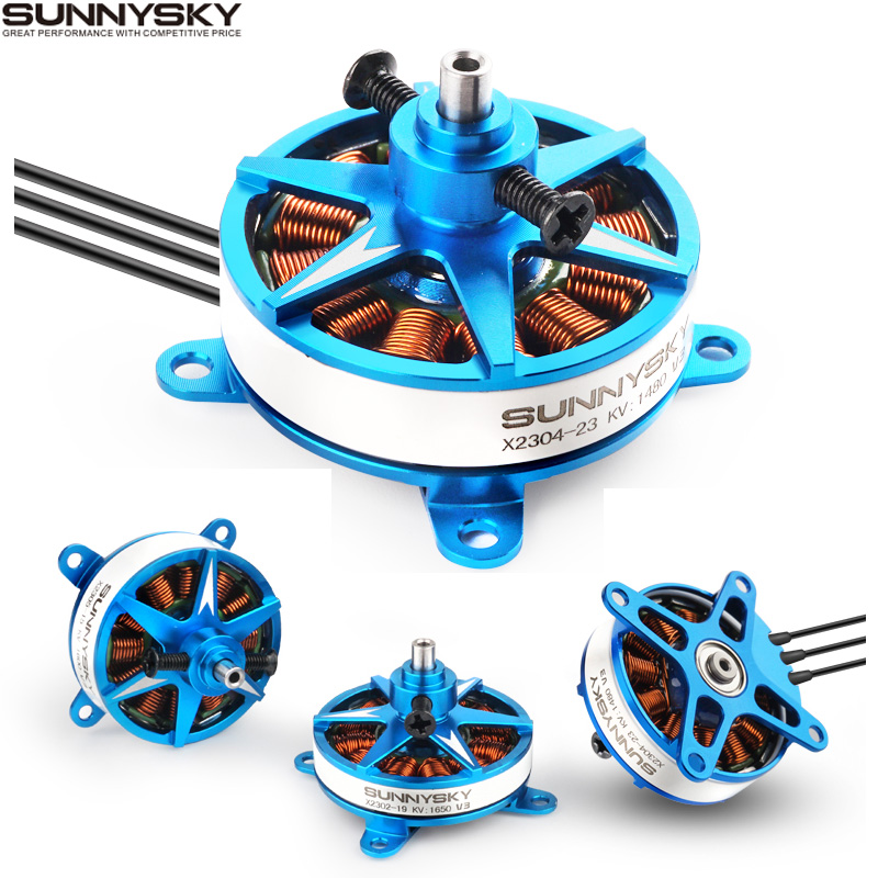 4set lot Sunnysky X2302 X2304 X2305 1400KV 1480KV 1500KV 1620KV 1650KV 1800KV 1850KV motor for RC