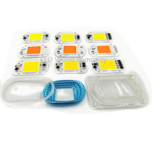 1set LED COB Grow Chip+Lens Reflector 50W 30W 20W 220V 230V Cold Warm White Full Spectrum For LED Flood Light DIY Outdoor light(China)