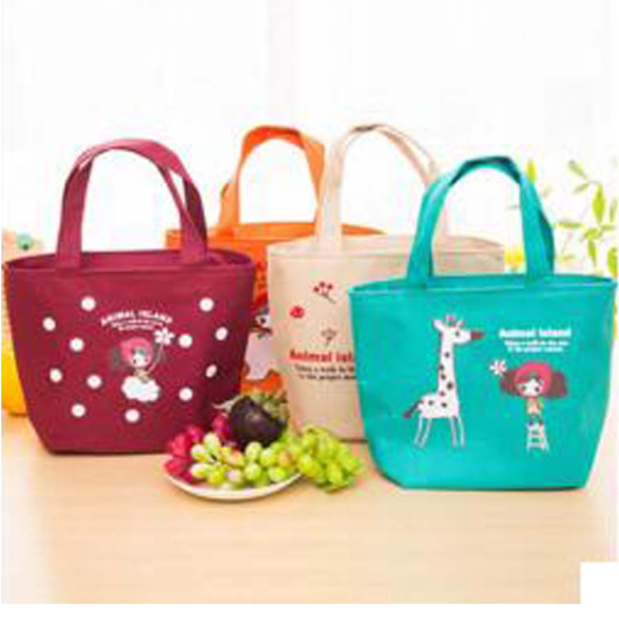 Cuty Pattern Oxford Lunch Bag Women Cute Cartoon Handbag Lunchbox Children Office School Picnic Lancheira Vy In Bags From Luggage