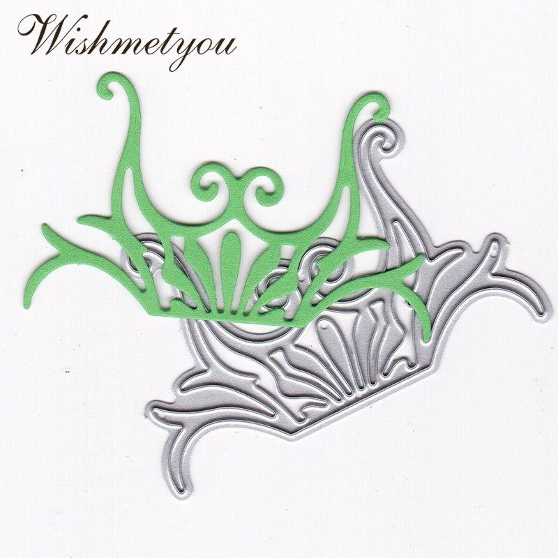 WISHMETYOU 1Pcs Metal Cutting Dies New 2019 DIY Scrapbook Making Cards Crown Decoration Handmade Crafts