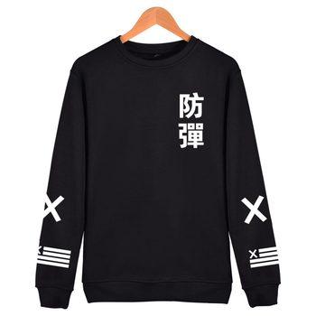 Black Cotton Hip Hop Coat Capless Sweatshirt
