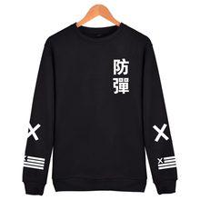 Худи Харадзюку БЦ 2018 для мужчин черный хлопок Мода хип хоп пальто толстовка без капюшона BTS корейский повседневное Bangtan одежда