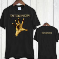 Mens Graphic Tees O Neck Cotton Short Sleeve System Of A Down Hand Top Size S