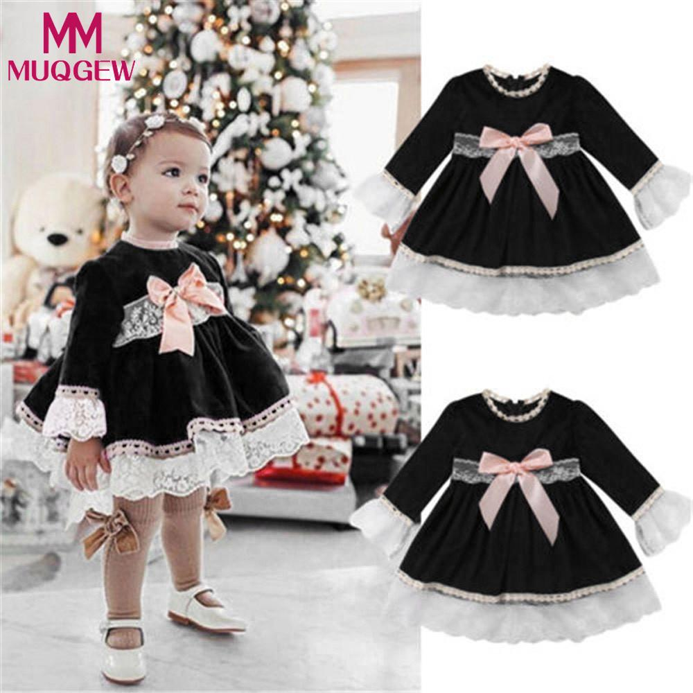 Red Plaid Toddler Kids Baby Girls Lace Long Sleeve Ruffled Dress Turtleneck Short Mini Dress 2018 Newest Cute Children Kid Dress 2019 Official Mother & Kids Girls' Clothing