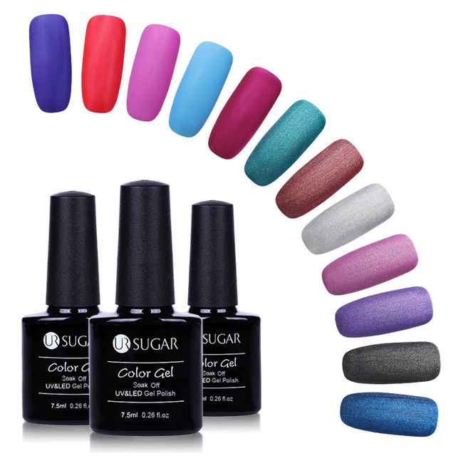 UR SUGAR Gel Nail Polish Colorful 7.5ML Matt Nail Gel Polish Long ...