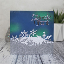 Naifumodo Snowflake Merry Christmas Background Dies Stitch Die Cut Stencil Easter Craft Happy Birthday