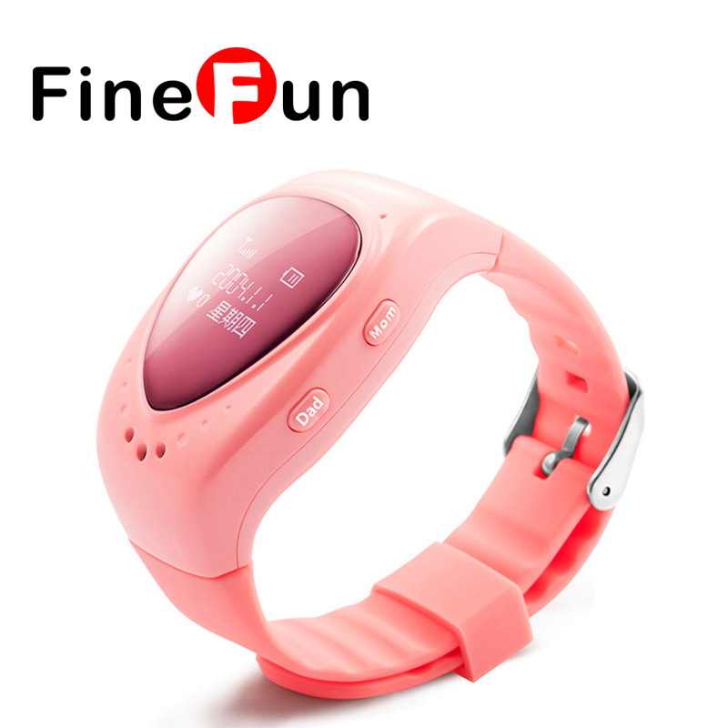 FineFun Original A6 GPS Tracker Watch for Kids Children Smart Watch with SOS button GSM phone support Android&IOS Anti Lost children s smart watch with gps camera pedometer sos emergency wristwatch sim card smartwatch for ios android support english e