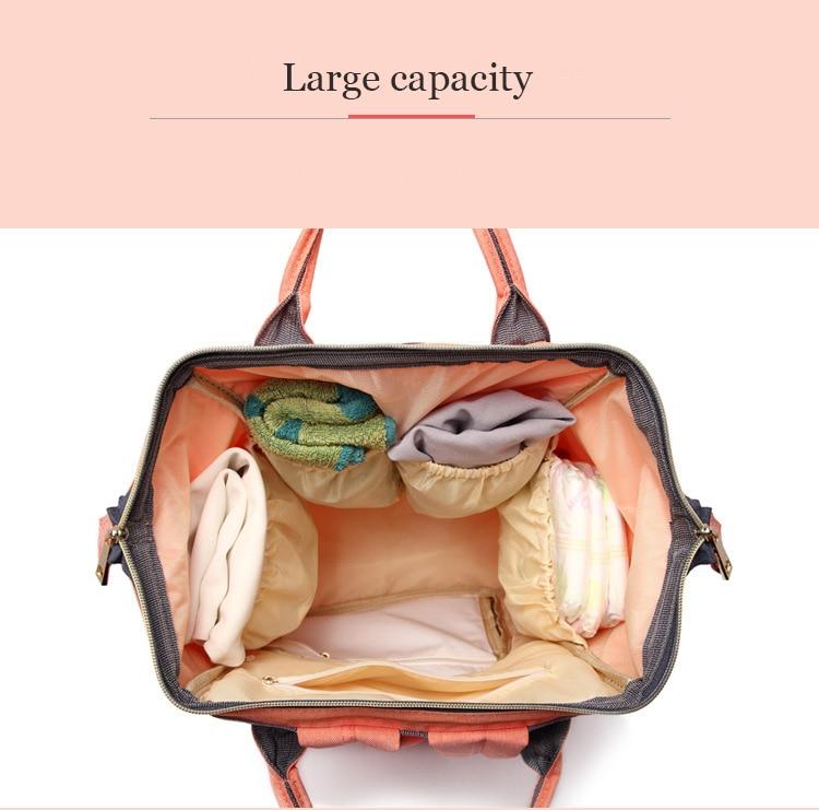 HTB1XfyilmfD8KJjSszhq6zIJFXah Maternity Bag Waterproof Diaper Backpack for Mom Nappy Bags Large Capacity Baby Bag Travel Mummy bag Designer Nursing Bag