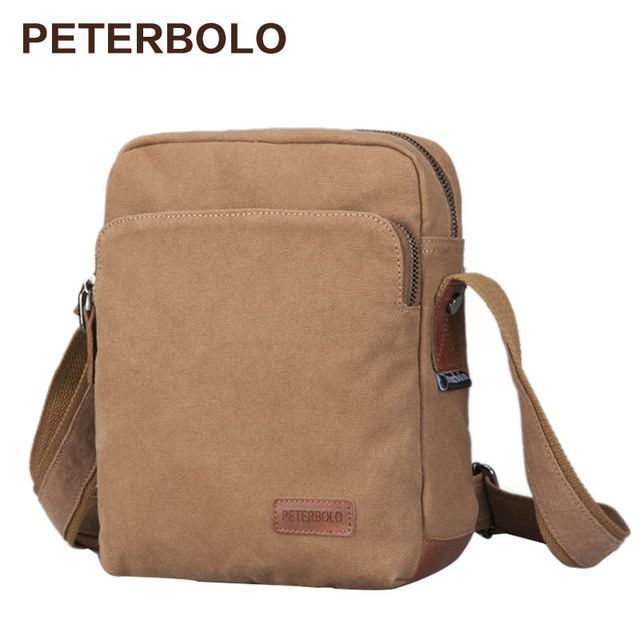Peterbolo High Quality Men S Leisure Canvas Single Shoulder Bag Crossbody Satchel