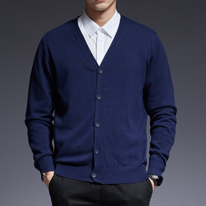 Varsanol Knitting Cardigan Sweater Men Long Sleeve Fashion Coat Casual Black Winter Clothing Keep Warm Slim Knitwear Top Clothes