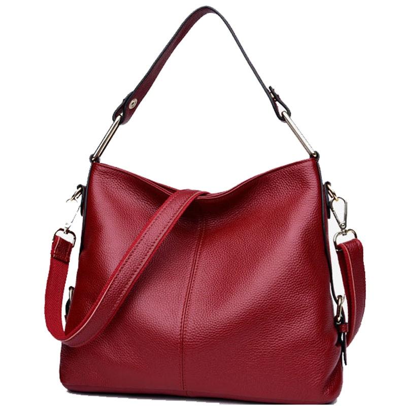 2018 new Pocket Soft Hot Genuine Leather Women Hobos Handbag Brand Plaid Design Simply Style Shopping Shoulder Bag Popular