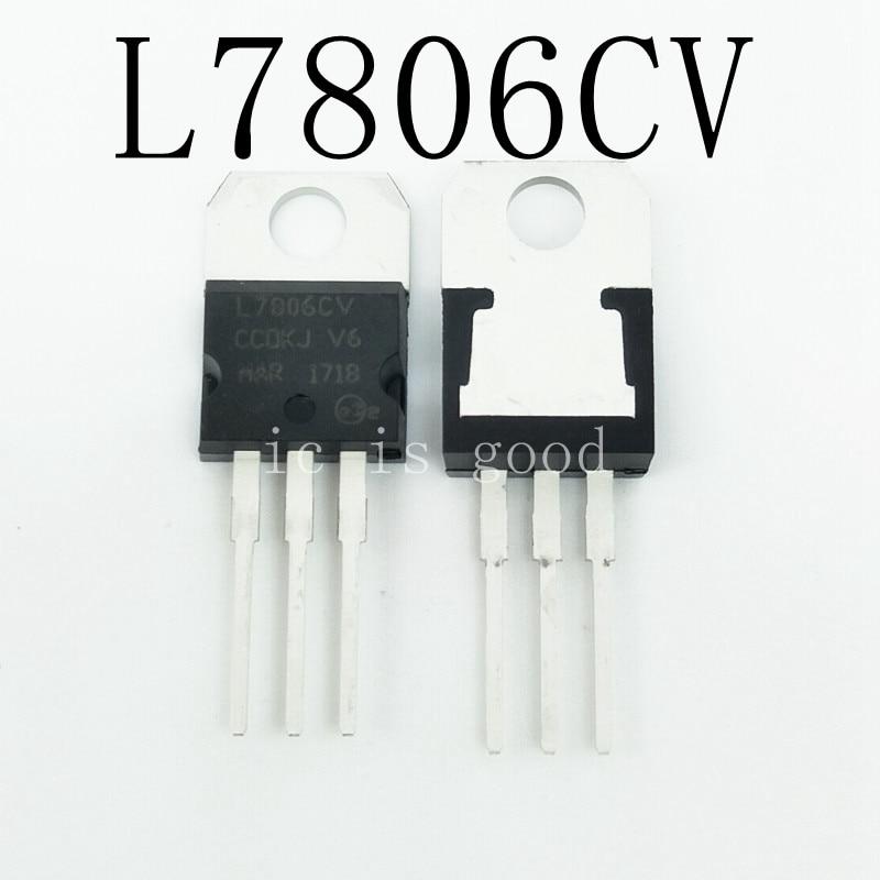 100pcs lot New L7806CV TO 220 MC7806 L7806 KA7806 6V Voltage Regulator