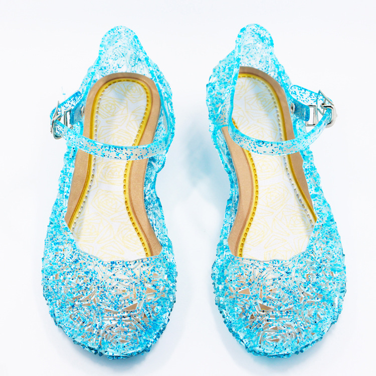 Summer Girls Beach Sandals Kids Cosplay Shoes 2019 Fashion Children's Princess Elsa Cinderella Shoes Crystal Sandals Girls Shoes