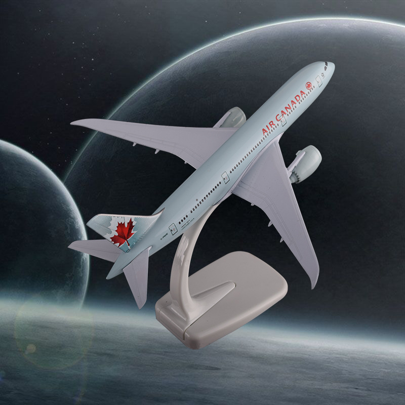 20cm B787 Air Canada Aircraft Model Boeing 787 Canadian Airline Crafts Group Metal Airplane Airbus Airways Static Decoration Git