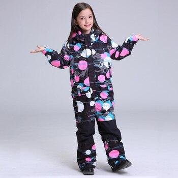 Лыжный костюм GSOU, детский, ветрозащитный, водонепроницаемый, для катания на сноуборде, для улицы, 2019