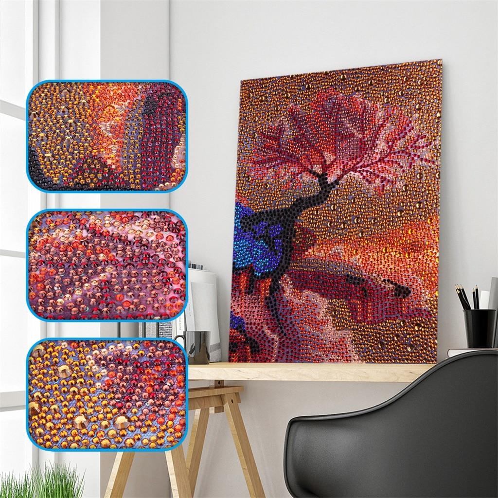 New Arrival Special Shaped Diamond Painting Cloud Tree DIY 5D Full Drill Cross Stitch Kits Crystal Rhinestone Art Home Decor