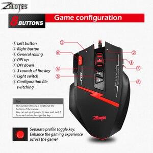 Image 5 - Zealot C 8 programable LED óptico USB Gaming Mouse 2500 DPI 8 Botones ordenador mouse juego de manos ratón para PC ordenador portátil