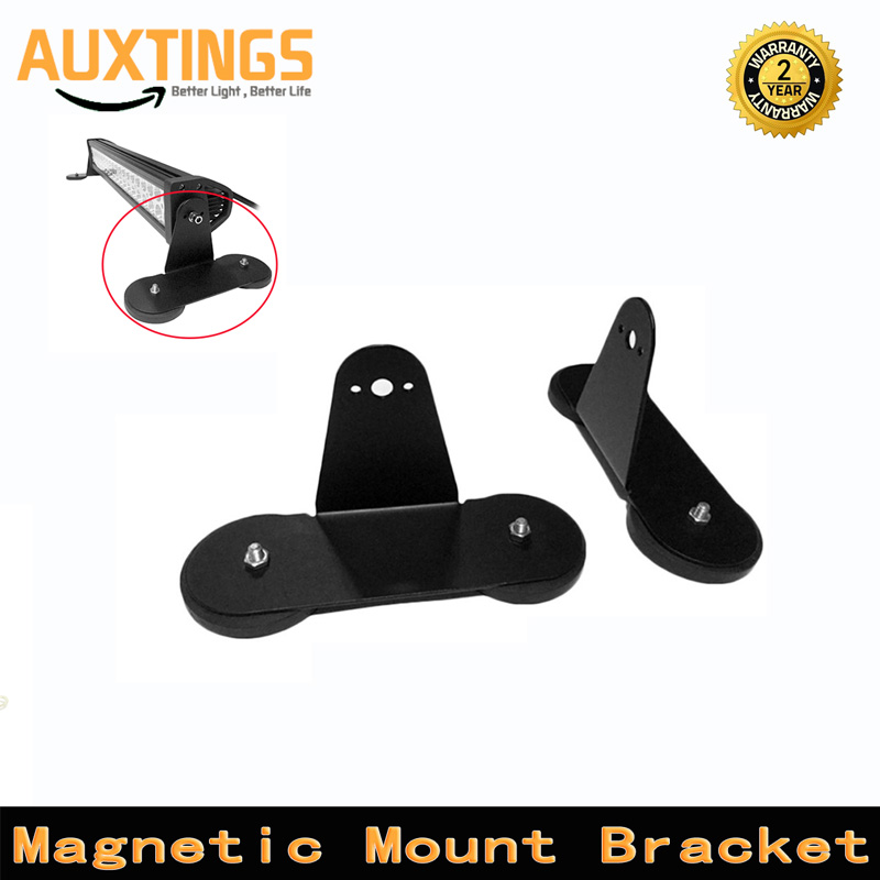 2pcs Punching-free Powerful Mounting Bracket Holder With Strong Magnetic Base Roof LED Work Light Bar Bracket For Offroad Cars