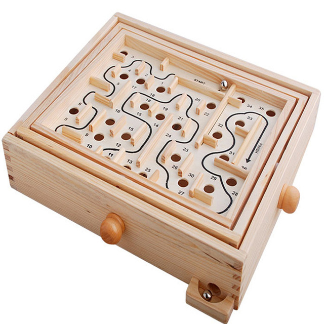 Kids Children Educational Wooden Baby Puzzle Toys Brain Teaser Maze Intellectual Development Toys ZS015