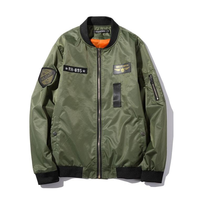 Aolamegs Men Bomber Jacket US Force MA1 Flying Jackets Military Style Baseball Uniform Army Green Black Navy Plus Size 4XL 5XL (9)