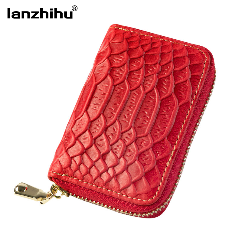 Women Genuine Leather Credit Card Holder