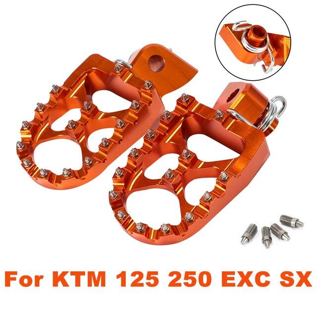 50 65 85 250 125 300 350 390 450 570 501 650 660 SX EXC SX-F EXC-F 950 990 CNC Wide Billet Motorcycle Footrest Foot Peg For KTM