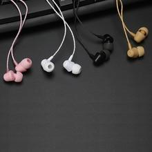купить 10PCS 3.5mm jack in-ear headsets super bass earbuds wired earphone small cute music earphones for cell phone PC по цене 1793.71 рублей