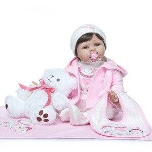 Image 2 - Npk 2019 Nieuwe Desigen Baby Meisje Reborn Poppen Kinderen Speelgoed Zachte Siliconen Vinyl 22 50 Cm Echte Leven Baby reborn Levend Pop