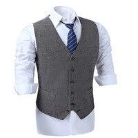 Men's vests Herringbone Tweed Vests Slim Mens Suit Vests Custom Made Sleeveless Suit Jacket Mens Dress Wedding Waistcoat