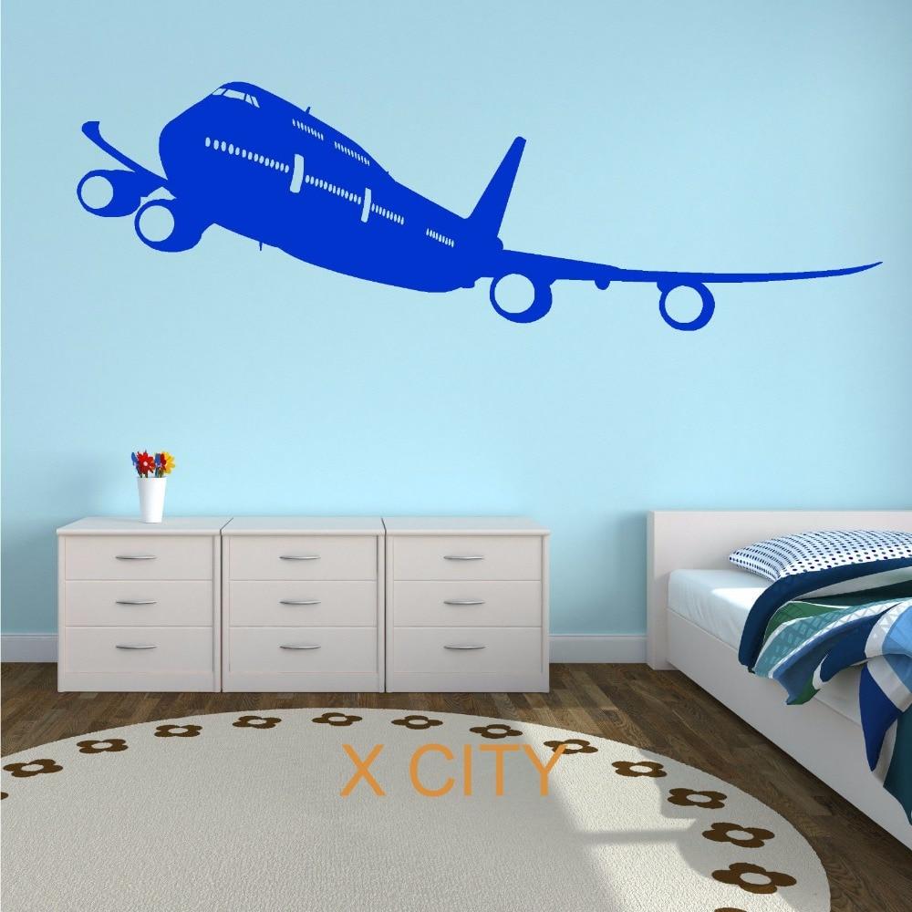 BOEING 747 PASSENGER PLANE AIRCRAFT PLANE AEROPLANE WALL ...
