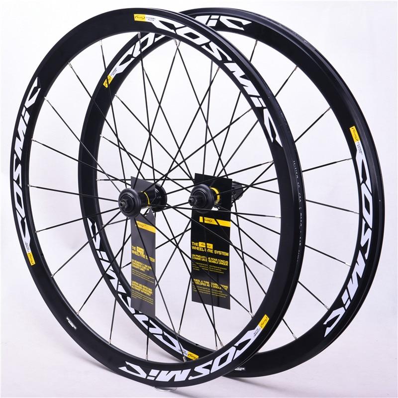 Latest High Quality  40mm Original Hot Sale 700C Alloy V Brake Bike Wheels BMX Road Bicycle Wheelset Road Aluminum Cosmic  Elite
