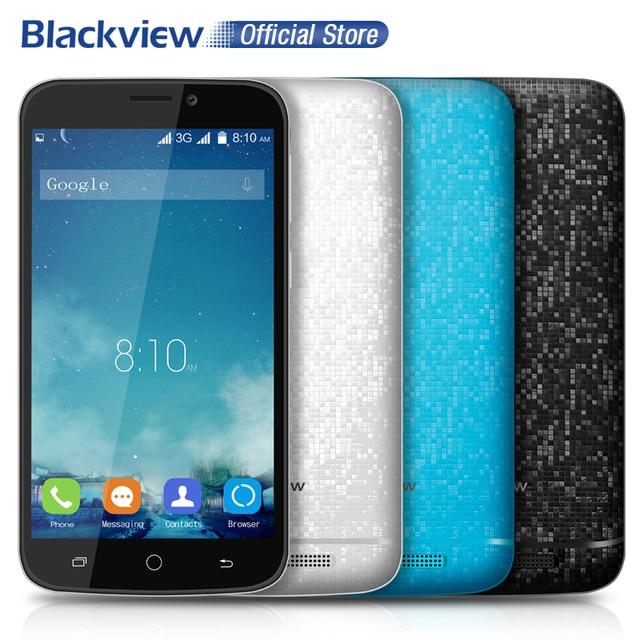 Blackview A5 Мобильный Телефон 4.5 дюймов 854x480 IPS MTK6580 Quad Core Android 6.0 1 ГБ RAM 8 ГБ ROM 5MP CAM 3 Г WCDMA Dual SiM Мобильный Телефон