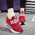 2016 Harajuku Women Casual Canvas Shoes Woman Platform Wedges Thick Soled Shook Shake Shoes Zapatillas Deportivas Zapatos Mujer