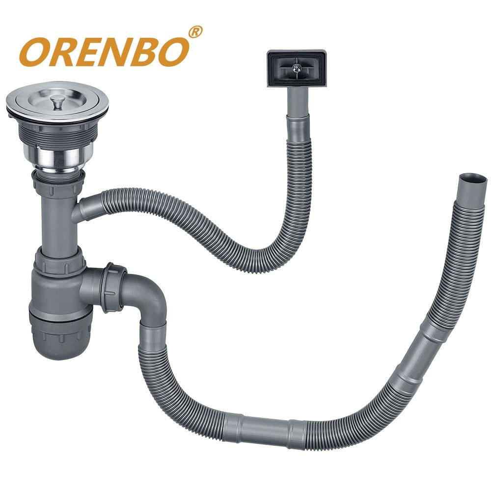 ORENBO Kitchen Sink Strainer Stopper Waste Plug Sink Filter  Sink Drains SUS304 Stainless Steel